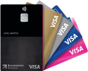 zoom sur les cartes Visa disponibles chez Boursorama Banque